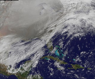 Satellite Image Shows Entry of the Polar Vorte...
