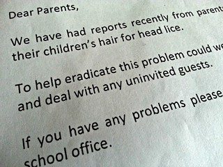 The dreaded school head lice letter