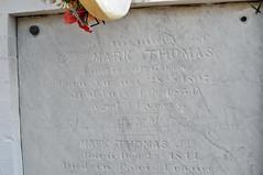 Thomas stone under wreath