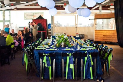 Blue and Green Reception - Blumz by JRDesigns in metro Detroit