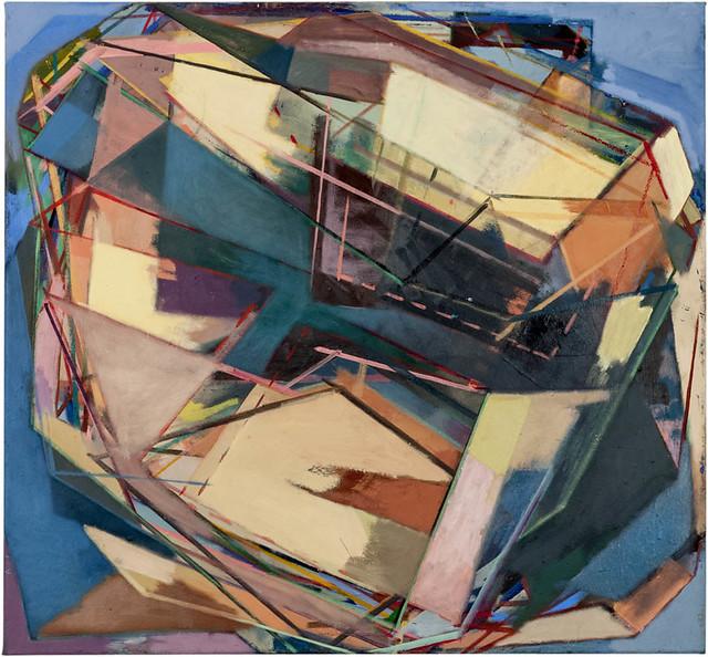 Schwankung, 70 x 75 cm, Eggtempera,Oil/Pigments, 2013