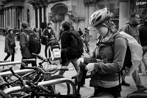 life street city portrait people urban blackandwhite bw woman white black window girl monochrome beautiful beauty bike bicycle sport shop female canon shopping mono scotland blackwhite store clothing healthy energy pretty cyclist display glasgow candid parking transport helmet young scene riding busy human gloves rack cycle portraiture backpack buff rucksack bandw fitness rider fit sporty pedal shoppers lid skid bustling