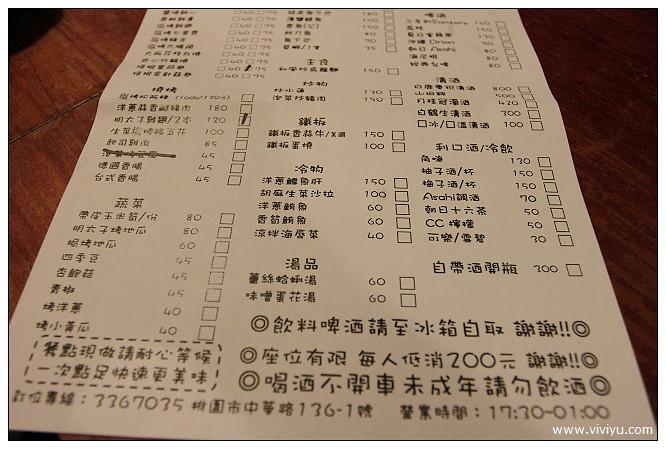 [桃園.美食]打茶串燒BAR~夜生活正美麗.日式居酒屋料理 @VIVIYU小世界