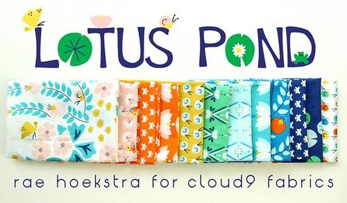 lotus pond fabric