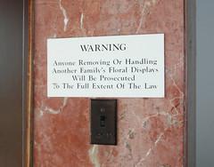 St Vincent de Paul Cem Warning
