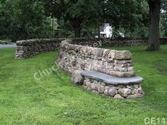 WM Chuck Eblacker 14, B4, Harley School, Free standing wall, bench