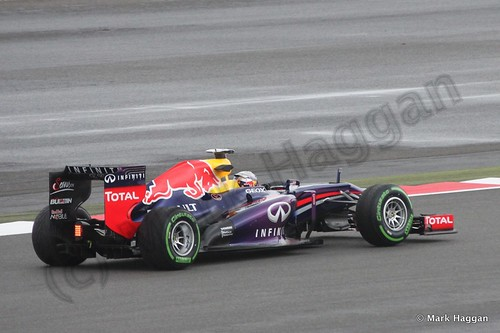 Sebastian Vettel in Free Practice 2 at the 2013 British Grand Prix