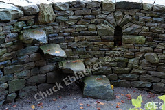 WM Chuck Eblacker 2, Free standing wall, arch niche,  steps,