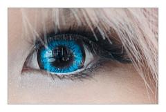 A 100% crop of Junko's eye