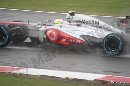 Sergio Perez in Free Practice 1 for the 2013 British Grand Prix