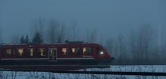 O-Train on foggy night