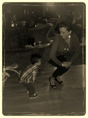 Twerking with mom.