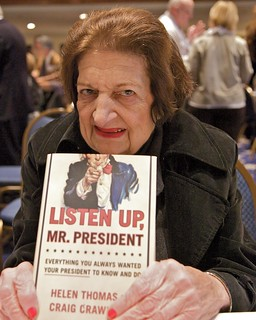 Helen Thomas launching her book at the NPC, No...