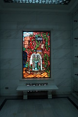 New Orleans fountain stained glass