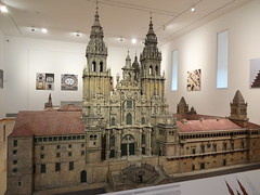 In the Pilgrim Museum (new one) - model of the Cathedral of Santiago