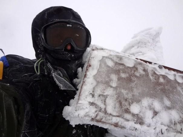 Saddleback Mountain Summit in Winter