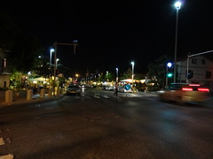 Haifa - Ben Gurion Blvd at night