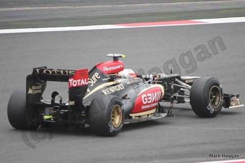 Romain Grosjean in Free Practice 2 at the 2013 British Grand Prix