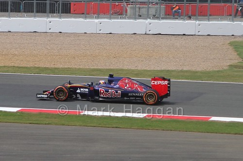 Max Verstappen in the 2015 British Grand Prix at Silverstone