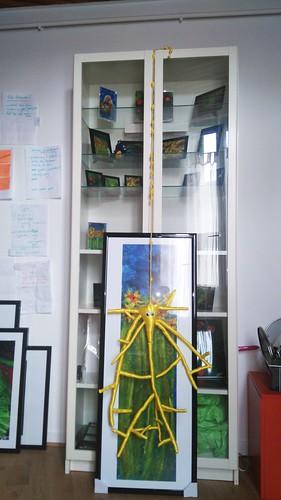"Neurone pyramidal et la toile ""Cadence Plagale""."