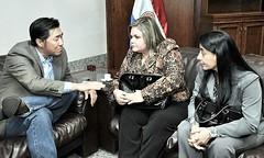2013 06 Paraguay - Hon. Lilian Samaniego and H.E. Laura Chinchilla