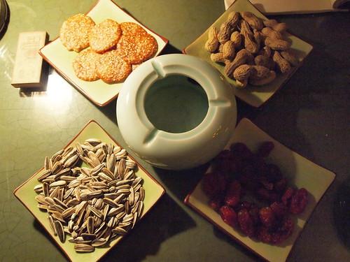大可堂客の茶菓子