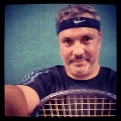 I just won the C division racquetball tournament. Yay me.