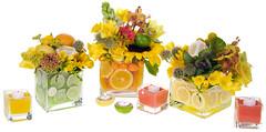 Citrus Zest— Leanne and David Kesler, Floral Design Institute, Inc., in Portland, Ore.