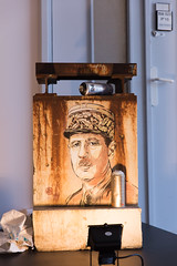 Tribute to Charles De Gaulle by Christian Guémy (aka C215) at CEA Saclay