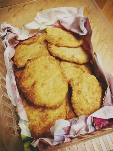 Today is all about...a basket of mum's homemade rowies