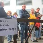 Wartezeiten vor Kafka im Lastenaufzug des Theater Lübeck