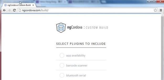 ngCordova Custom Build