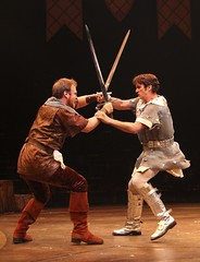 From left: Michael Thatcher and Sean Hayden in Camelot at Music Circus August 2-7. Photo by Charr Crail.