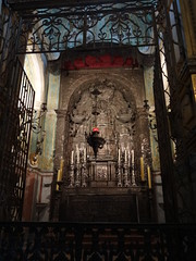 The Porto Cathedral silver altar, quite tarnished now