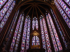 Sainte-Chapelle - upper chapel - original 13th century stained glass
