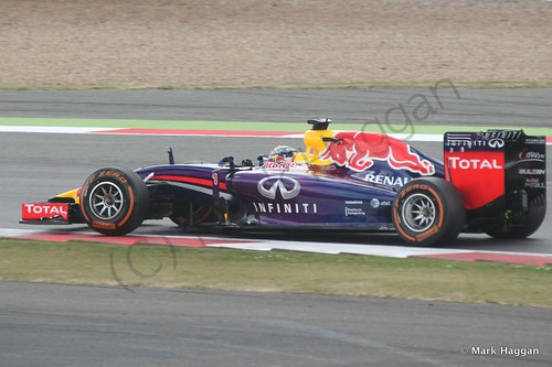Sebastian Vettel in The 2014 British Grand Prix