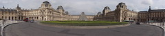 Louvre panorama from Place du Carrousel