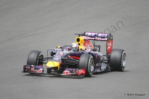 Sebastian Vettel in The 2014 British Grand Prix