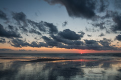 Coucher de soleil en été sur la plage de Coxyde (#PhilippeC)