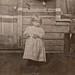 Little girl on porch