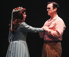 (L to R) Jennifer Hope Wills (Fiona MacLaren) and Robert J. Townsend (Tommy Albright) in Brigadoon, produced by Music Circus at the Wells Fargo Pavilion August 5-10, 2014. Photos by Charr Crail.