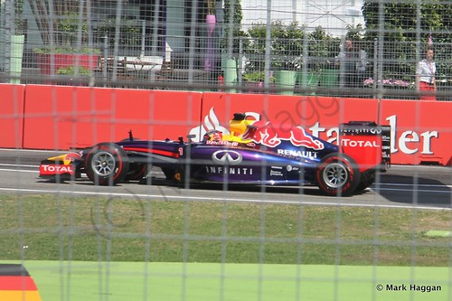 Sebastian Vettel in qualifying for the 2014 German Grand Prix