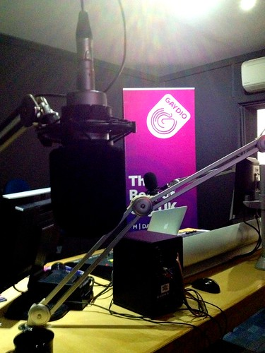 Today is all about...being interviewed for Gaydio