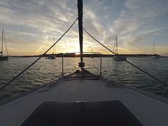 Couché de soleil aux Îles Glénan