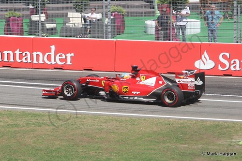 Fernando Alonso in Free Practice 2 at the 2014 German Grand Prix