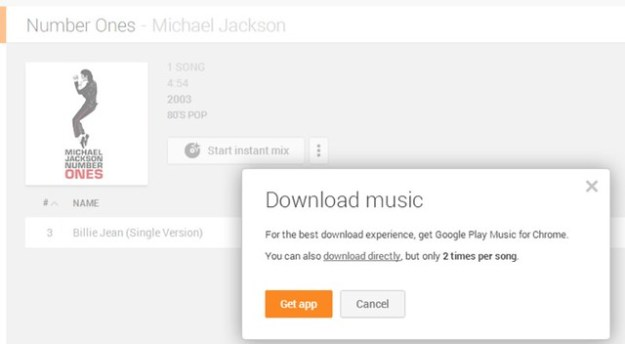 Google Music - Download songs