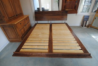 Black Walnut Platform Bed#langecustoms