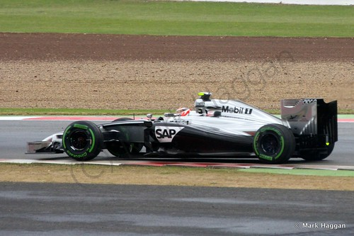 Kevin Magnussen in his McLaren during qualifying for the 2014 British Grand Prix