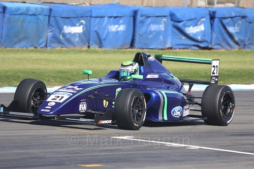 Patrik Pasma in British F4 Race One during the BTCC Weekend at Donington Park 2017: Saturday, 15th April