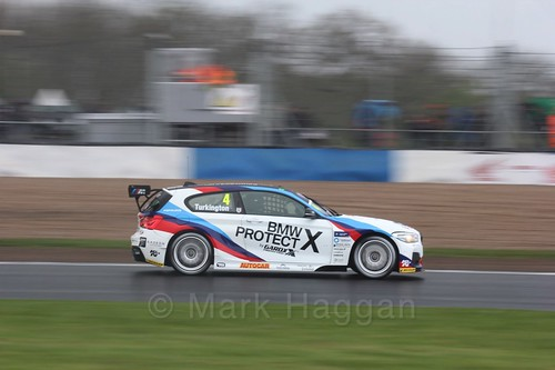 Colin Turkington in race three at the British Touring Car Championship 2017 at Donington Park